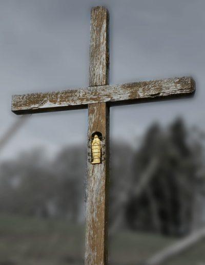 Croix en bois des Armonts